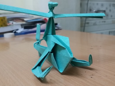 ORIGAMI: How to make a paper Helicopter