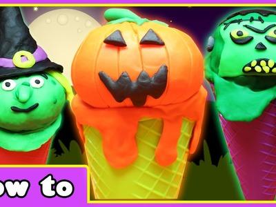 Play Doh Halloween Surprise Ice Cream | DIY Halloween Crafts | Play Doh Videos