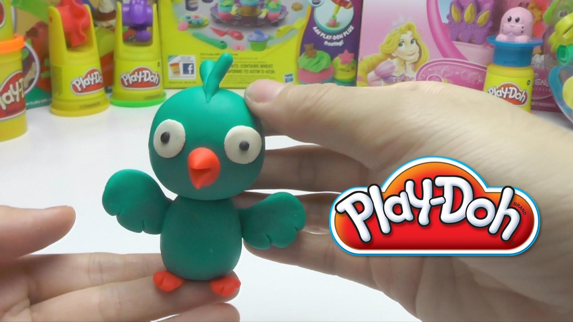 Play-Doh  - How to Make a Green Twitter Bird DIY