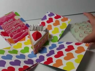 Singapore Valentine's Day DIY Explosion Box Card (4 designs), Customize Order OK! :)