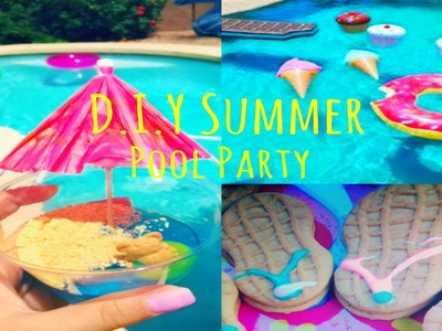 Summer Pool Party ♡ Treats + DIY Photo Booth & Decor