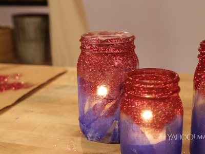 This Patriotic Mason Jar DIY Will Light Up Your Holiday Table this 4th of July