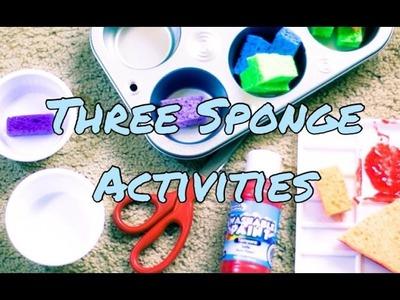 Toddler and Preschool Activities with Sponges DIY