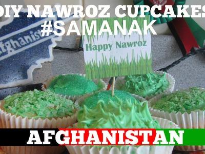 Afghanistan Nawroz DIY Treats - How to Make Samanak Cupcakes !!