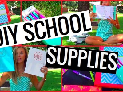 Back To School: DIY School Supplies + Organizing My School Supplies!