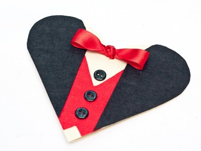 Create an Elegant Tuxedo Valentine Heart Card - DIY Crafts - Guidecentral