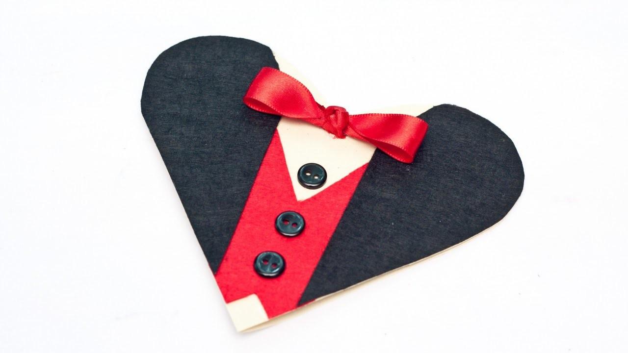 Create an Elegant Tuxedo Valentine Heart Card - DIY Crafts - Guidecentral