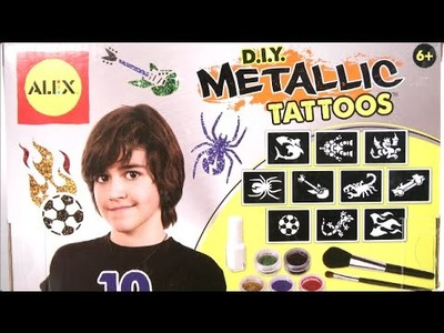 D.I.Y. Metallic Tattoos from Alex Toys