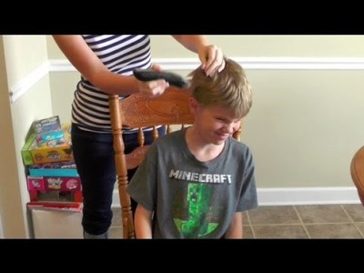 DITL: I shaved his head!. DIY chest hair :)