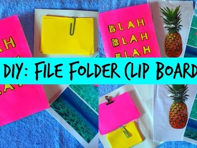 DIY BACK TO SCHOOL: FILE FOLDER + MINI MEMO CLIP BOARD!
