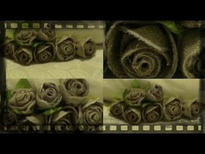 DIY Burlap Roses