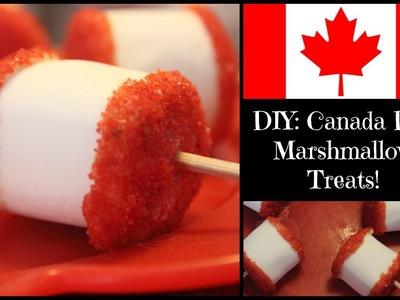 DIY Canada Day Treat: Sprinkled Marshmallows!