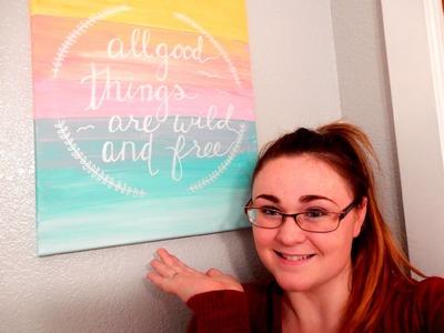 DIY Canvas Art! Super Cute Room Decor!