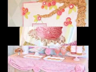 DIY cheap baby shower decorations ideas for girls