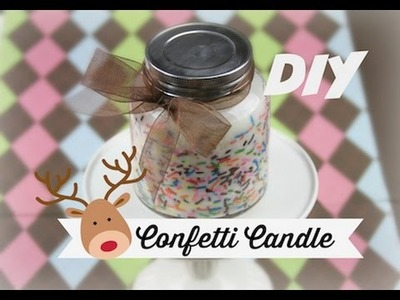 DIY Confetti Candle | ShowMeCute