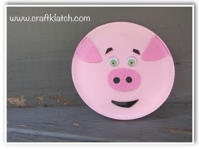 DIY Cute Pig Coaster   Another Coaster Friday