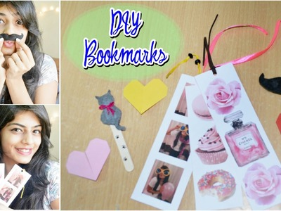 DIY Easy Bookmarks | Heart, Photostrip, Mustache & Cat