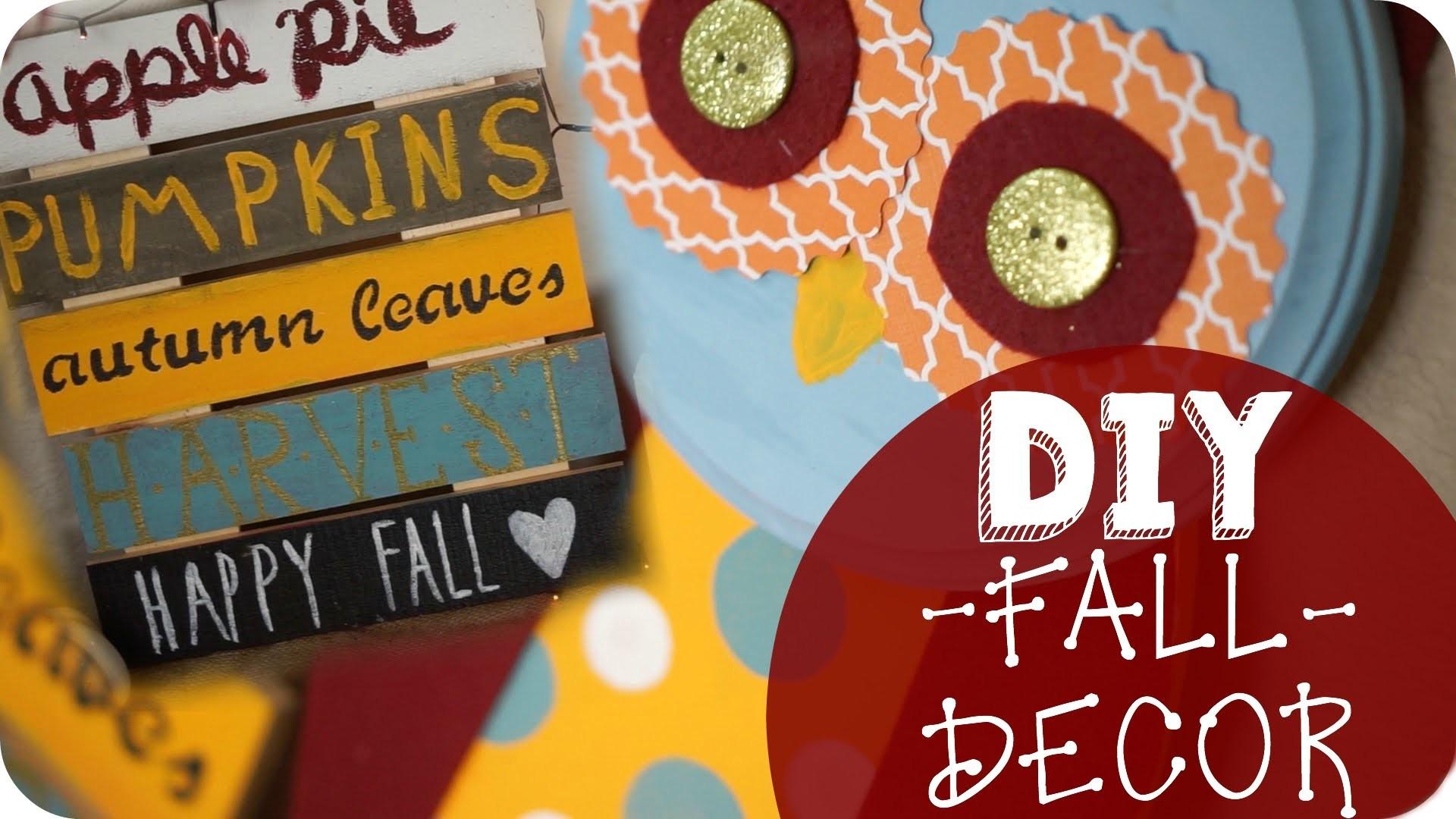 DIY Fall Decor (Shabby Chic-Inspired!). Collab with CrystalCreatesChic & Hannah RoseDIY