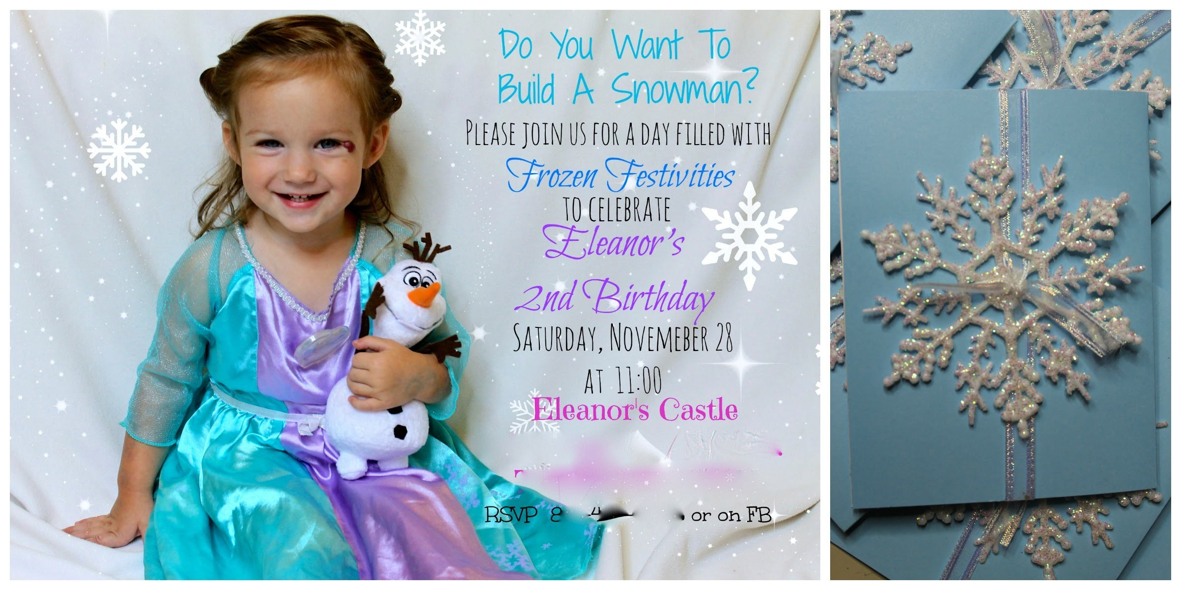 DIY Frozen Invites I Easy and Awesome!