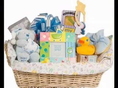 DIY gift basket decorating ideas for baby shower