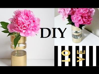 {DIY} Gold Striped Vase