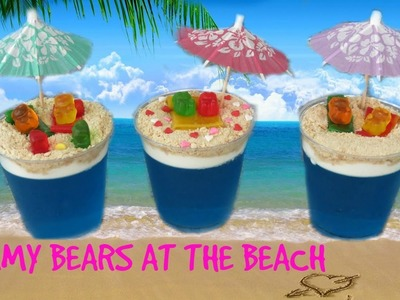 DIY Gummy Bears At The Beach!!! Glam Barbie ❤