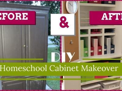 DIY Homeschool Cabinet Makeover | COLLAB