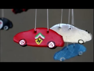 DIY: Mobile cars ♥ Decoration for child's room☺children's bedroom☺kids room ♥ air drying clay