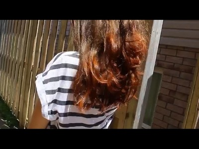 DIY: Ombre Hair with Henna. Natural Temporary Colour!