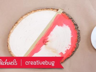 DIY Painted Wooden Centerpiece | Michaels & Creativebug