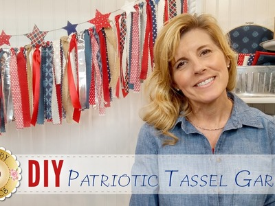 DIY Patriotic Tassel Garland | with Jennifer Bosworth of Shabby Fabrics