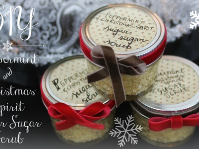 DIY Peppermint & Christmas Spirit Sugar Sugar Scrub
