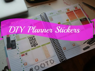 DIY - Planner Stickers by Coffee and Mascara