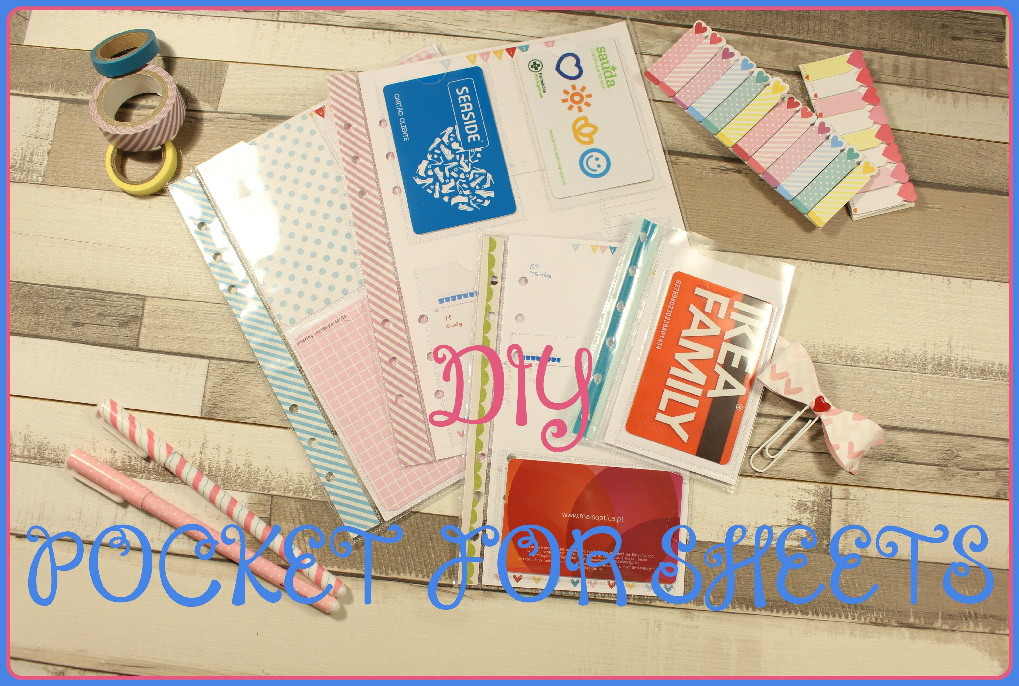 DIY Pockets for protector sheets - Pimp my Planner ♥
