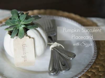 DIY Pumpkin Succulent Namecard | Sizzix DIY Parties & Events
