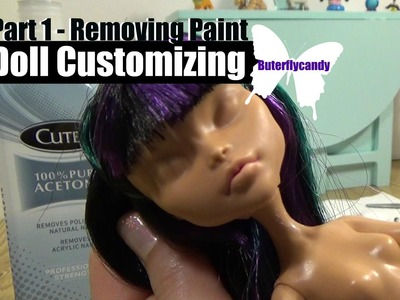 Doll Customizing Part 1 - Removing Paint | How to DIY | Monster High | Ever After High