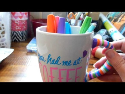 Dollar Tree Craft: DIY Coffee Mug Hand Painted!