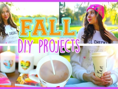 Fall DIY Projects ♡ Sweatshirt, Beanie & Room Decor