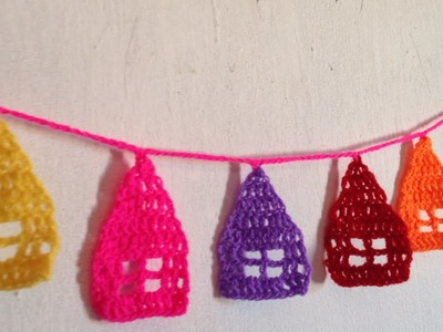 How To Crochet  Little Houses Garland For Decoration - DIY Crafts Tutorial - Guidecentral