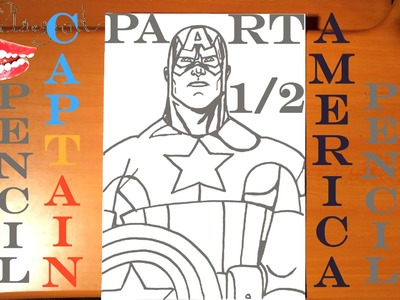 How to draw CAPTAIN AMERICA Step by Step Easy,Paper,Pencil, AVENGERS,draw easy stuff, #1.2