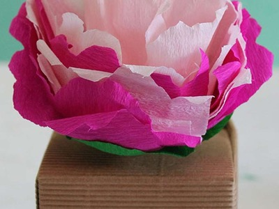 How To Make A  Crepe Paper Peony - DIY Crafts Tutorial - Guidecentral