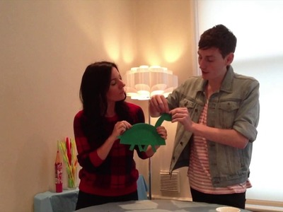 HOW TO MAKE. A Paper Plate Dinosaur!