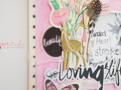 Loving Life: Creating a tissue paper background by Wilna Furstenberg