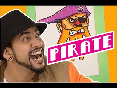 Mad Stuff with Rob – How to draw a Pirate | DIY Drawing for children