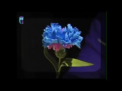 Make flower-cornflower from foamiran (spongy rubber). Diy. Handmade