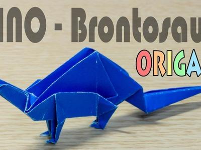 Origami Brontosaurs : Paper Dinosaur Tutorial