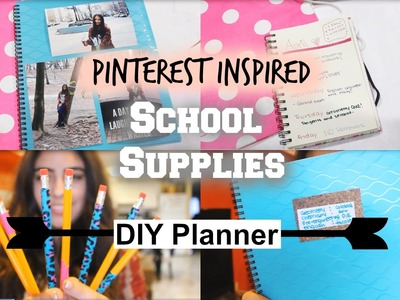 Pinterest Inspired School Supplies + DIY Planner