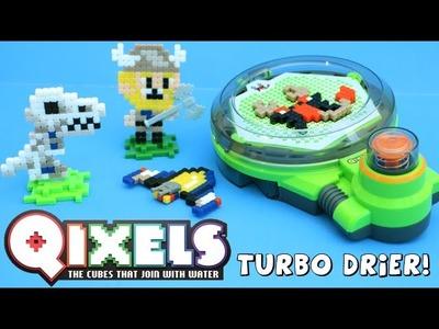 Qixels Turbo Drier DIY 8 Bit Pixel Art Dinosaur Viking Moose Toys