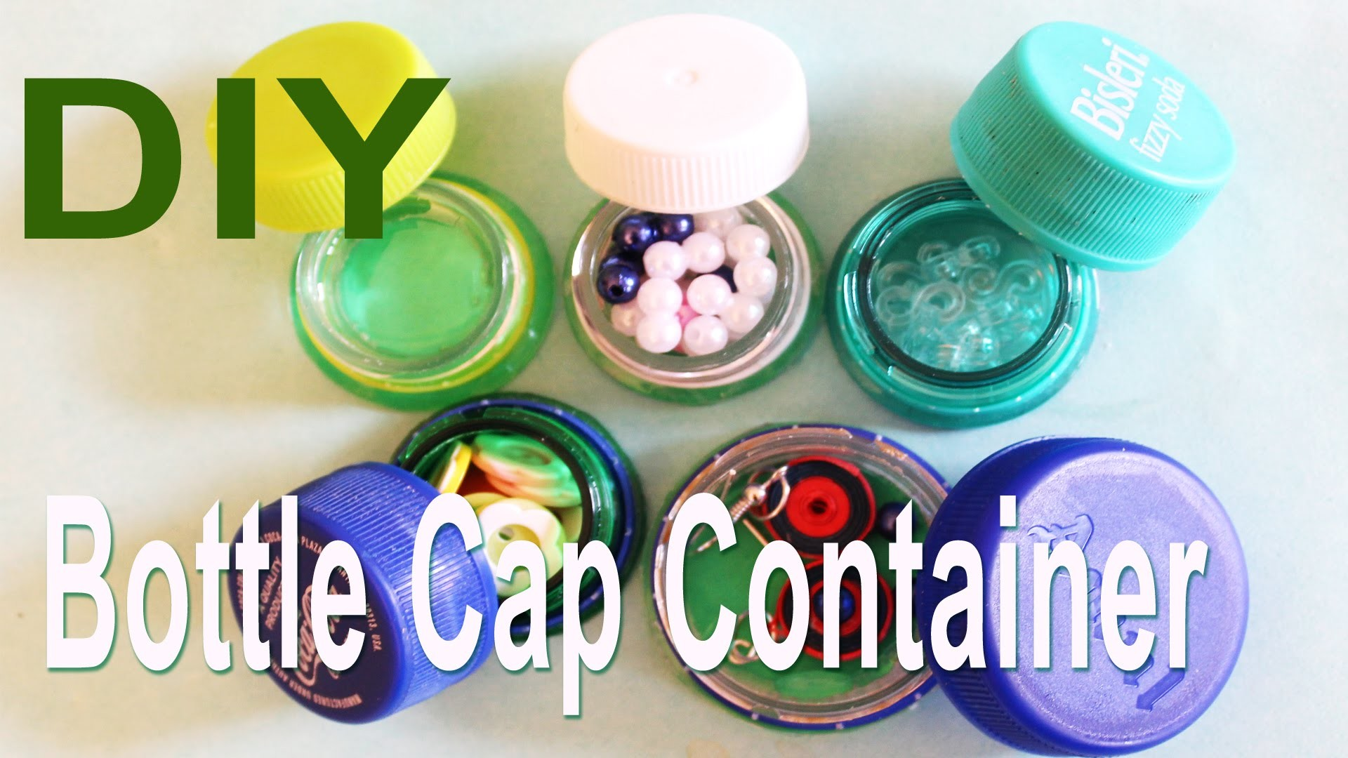 Recycle : DIY Mini Bottle Cap Container