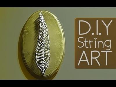 String Art (Leaf) D.I.Y.